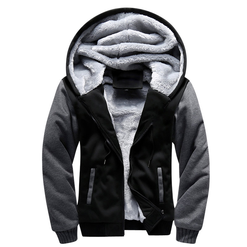 USA Size Bomber Jacket Men 2018 New Brand Winter Thick Warm Fleece Zipper Coat for Mens SportWear Tracksuit European Hoodies Men