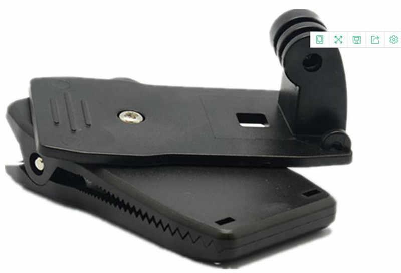 Acción Cámara Clip para GoPro Hero 8 7 6 5 4 Montaje 360 grados rotatorio Clip montura para mochila para Sesión 3 + 3 SJCAM SJ4000 Garmin