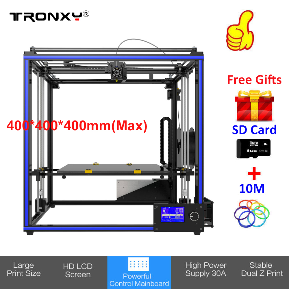 купить Tronxy DIY 3d Printer kit Aluminium Large Printing Size 400*400*400mm Industrial Grade Desktop 3D Printer +SD Card Free Shipping по цене 28080.93 рублей