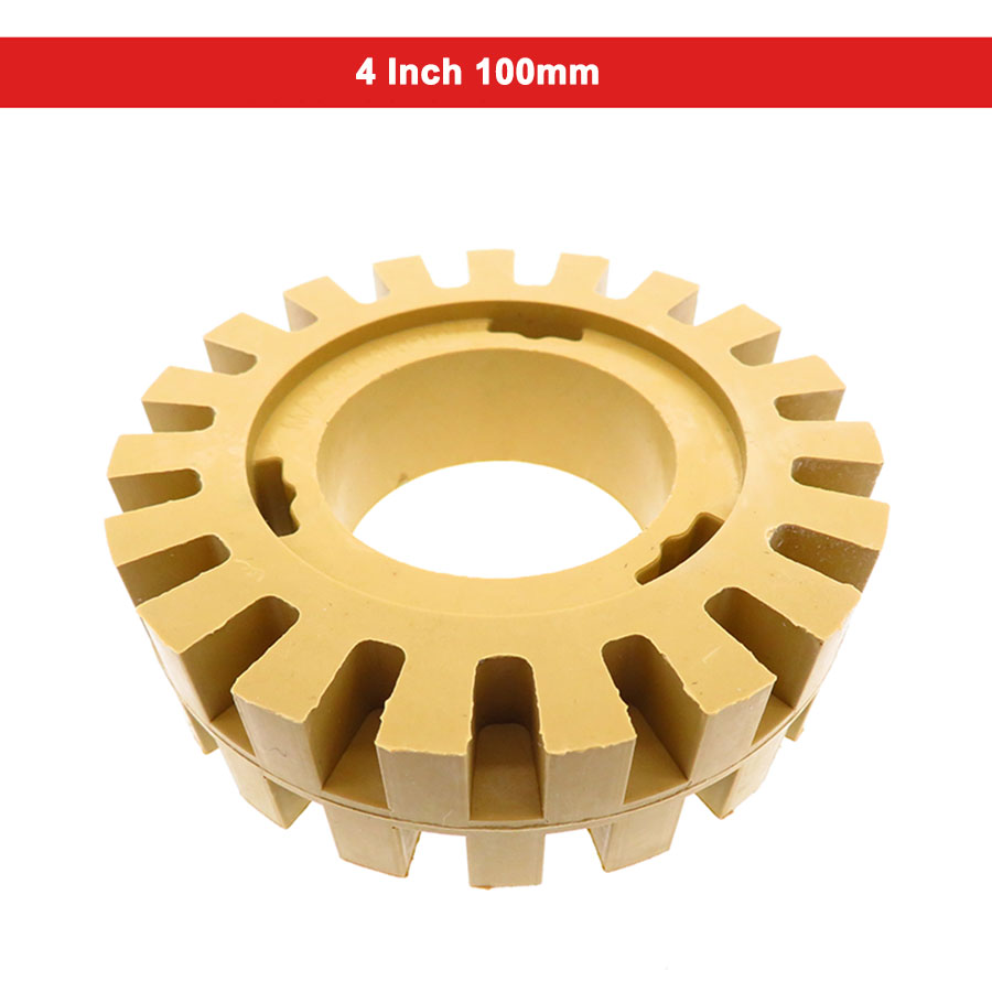 4 Inch Jagged Hollow Rubber Polishing Wheel 1/4