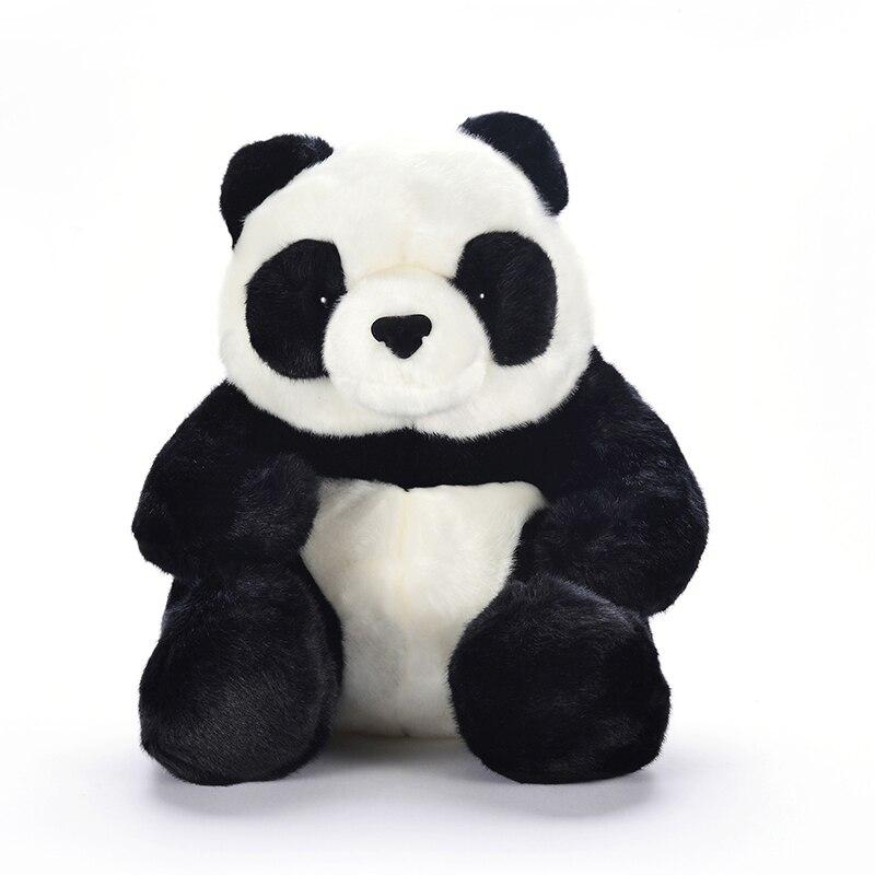 Плюшевая панда сидит сидя Игрушечные лошадки милые мягкие Китайская национальная животных большой китайский фаршированные Куклы Best подар...