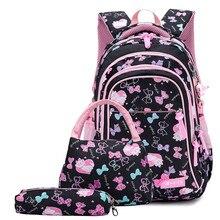 3pcs/set waterproof Children School Bags for Girls princess school Backpacks Kids Printing Backpacks Boys Pencil bag sac mochila