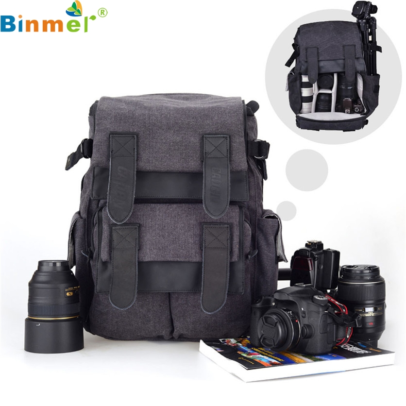 Binmer Factory Price 1PC CADEN M5 Travel Double Shoulder DSLR SLR Camera Bag Laptop Backpack For Canon May26 Drop Shipping caden l5 professional camera bag multifuction waterproof shockproof backpack laptop bag padded insert for sony canon nikon dslr