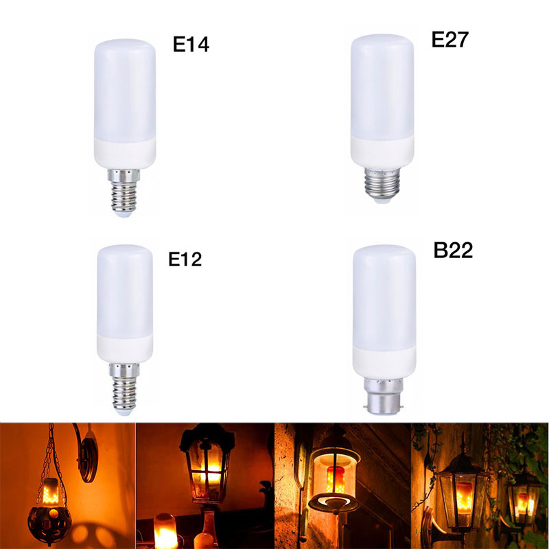 E27/B22/E14/E12 AC 185-265 В светодиодный свет огня красочные кукурузы лампы Свадебные украшения вечерние рождество лампы свечей ...