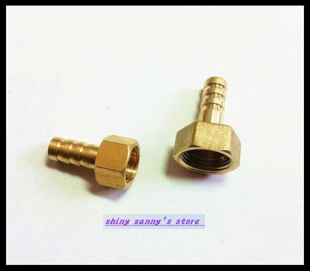 30Pcs/Lot  BFG6-02 6mm-1/4 BSP Female Barbs Hose Brass Adapter Coupler 15pcs lot 8 03 8mm 3 8 bsp 2 ways male barbs elbow hose brass pipe adapter coupler