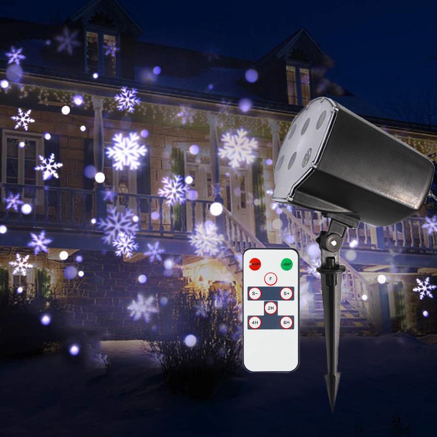 цена Thrisdar Outdoor snowflake Snowfall Projector Lamps Holiday Snowflakes Stage Light Not Christmas Laser Projector Lawn Lamps онлайн в 2017 году