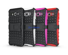 50pcs Shockproof Stand Holder Heavy Duty Armor Rugged Kickstand Hybrid Case For Samsung Galaxy A8 A8000 Phone Cover Cases
