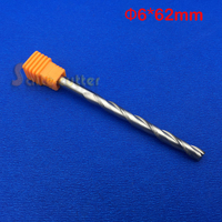 Free Ship 1pc Solid Carbide 1 4 Endmill Double Two Flute Spiral Bit CNC Router Bits