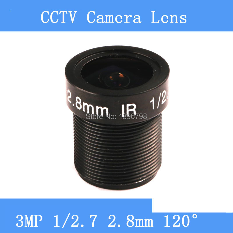 PU`Aimetis CCTV lenses 3MP 1 / 2.7 HD 2.8mm surveillance camera 120 degrees wide-angle infrared M12 lens thread pu aimetis cctv lenses 3mp 1 2 7 hd 2 8mm surveillance camera 120 degrees wide angle infrared m12 lens thread