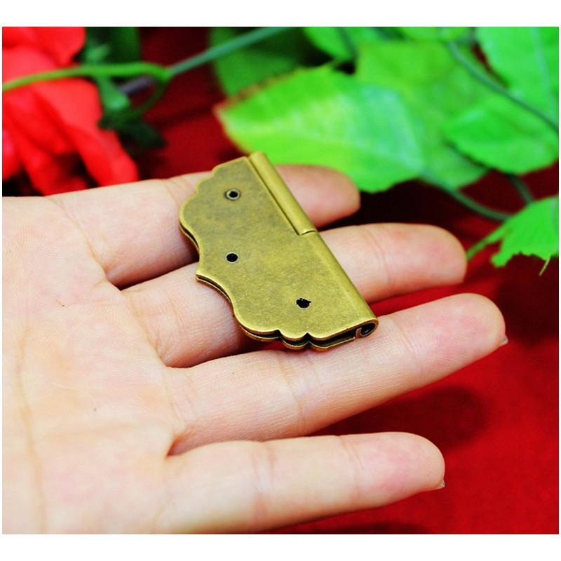 40Pcs 43*43mm Wholesale Brass Flower Hinge Decor Door Hinges Wooden Gift Jewelry Box Hinge Fittings for Furniture With Screws40Pcs 43*43mm Wholesale Brass Flower Hinge Decor Door Hinges Wooden Gift Jewelry Box Hinge Fittings for Furniture With Screws