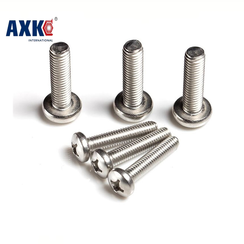 2018 Parafuso Vis 100pcs M2 M2.5 M3 M4 Iso7045 Din7985 Gb818 304 Stainless Steel Cross Recessed Pan Head Screws Phillips Axk73 300pcs set iso7045 din7985 gb818 m2 m2 5 m3 nickel plated cross recessed pan head phillips screws hw028