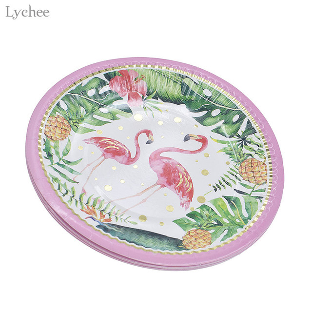 Lychee Flamingo Disposable Plates Tableware Paper Plates Birthday Party Supplies Wedding Decoration  sc 1 st  AliExpress.com & Lychee Flamingo Disposable Plates Tableware Paper Plates Birthday ...