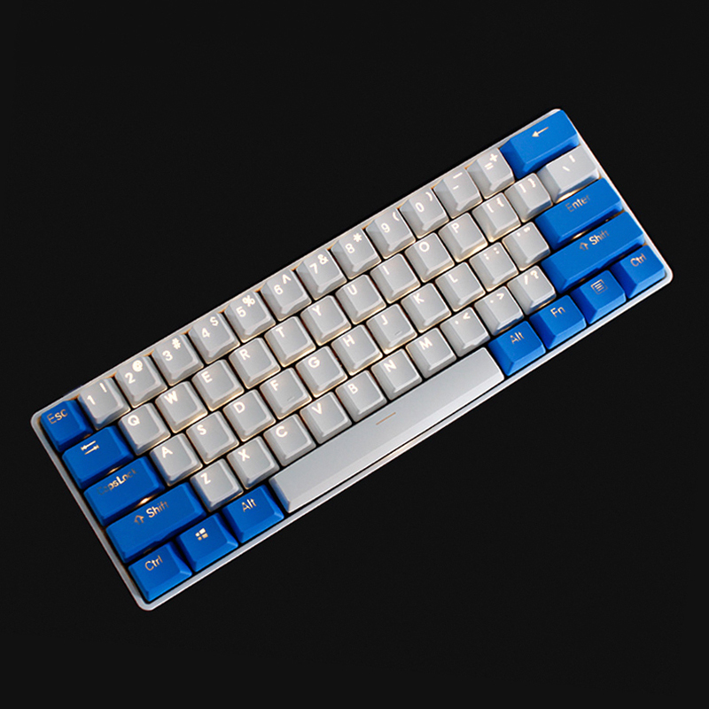 Backlit Keycaps Gh60 Poker Oem Profile Rainbow Keycaps Valentine's Doubleshot PBT Clear Shine-through Legends High-quality PBT