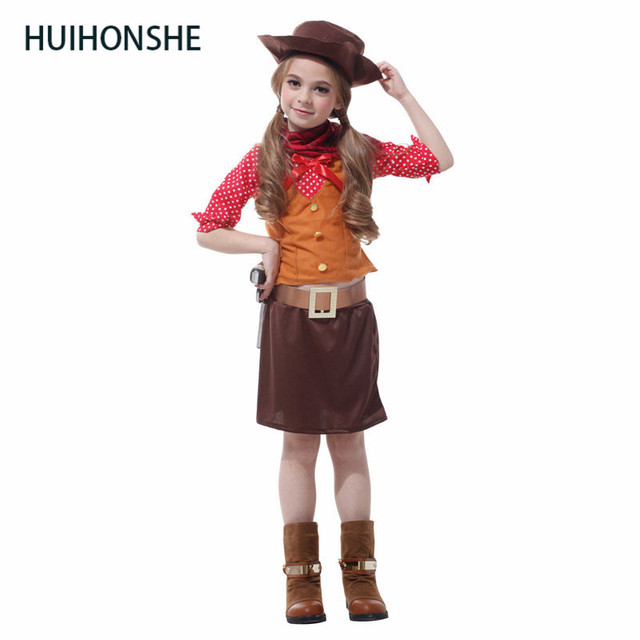 New Arrival Halloween Cosplay Costume Girls Western Cowboy Suit