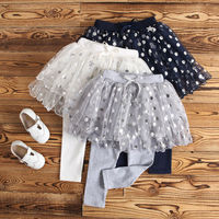Winter Girls Skirts 2017 Autumn 5Star Shine Kid Clothing Chiffon Cotton Kids Leggings With Bow Princess