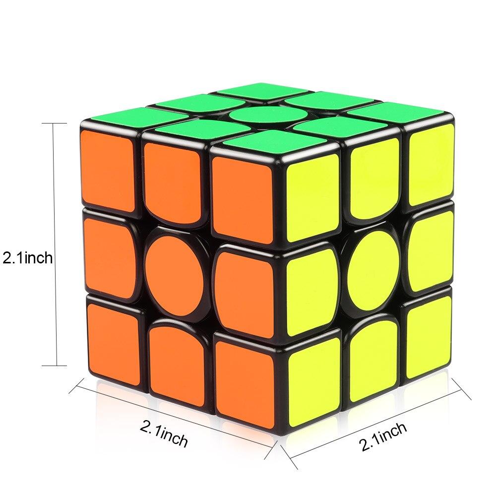 D-FantiX Gans 356 Air Maître 3x3x3 Vitesse Cube Lisse Professionnel Cube Magique jouets éducatifs Pour enfants Adultes - 2