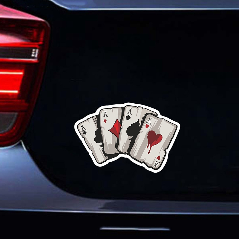1x PET Graphics Playing Cards A Car Truck Window Laptop Helmet Decal Sticker