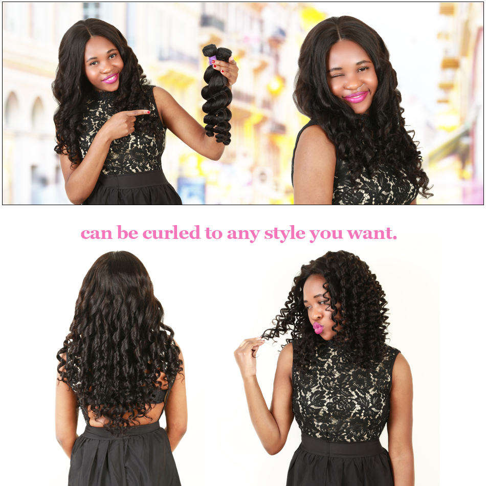 Ali Sky Malaysian Loose Wave Bundles Natural Black Hair Weaving 13