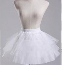 White Petticoat Short Women Underskirt For Wedding Dress jupon cerceau mariage