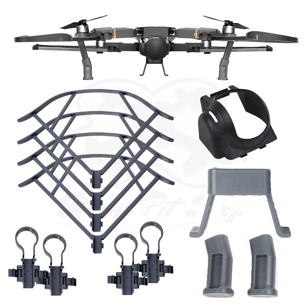 Propeller Guards + Landing Gear + Sun Shade gimbal Hood For DJI Mavic Pro - Ultimate Protection Kit