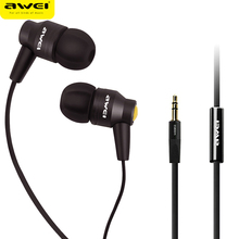 Awei 800i Metal Earphone Headphones For Mobile Phone HIFI Headset With Microphone In-Ear Earpiece Super Bass Stereo Sound