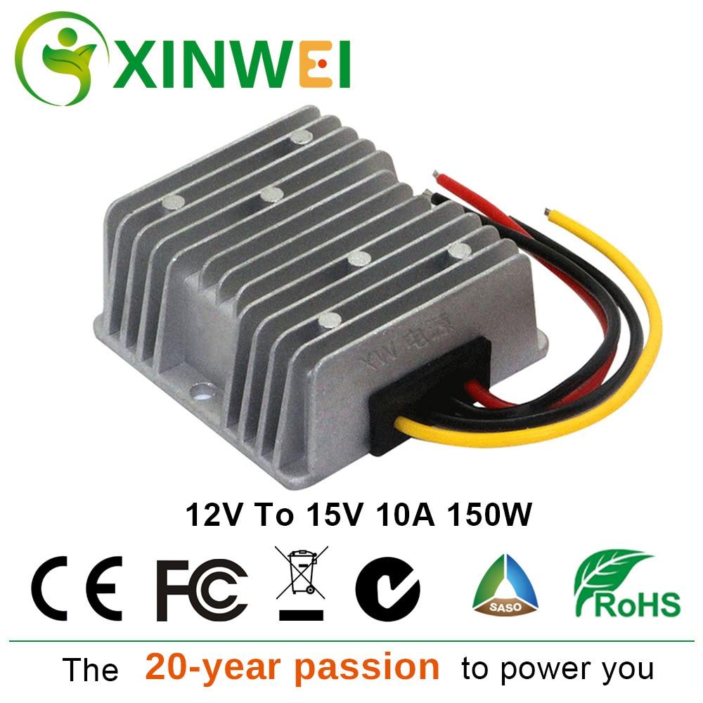 XINWEI DC12V Step Up To DC15V 10A 150W Converter Aluminum Voltage Regulators Stabilizers Electrostatic Bag For Monitor And EctXINWEI DC12V Step Up To DC15V 10A 150W Converter Aluminum Voltage Regulators Stabilizers Electrostatic Bag For Monitor And Ect