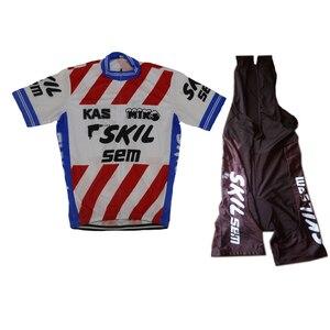 Image 2 - 2019 nuovo Ciclismo maglia manica Corta bib shorts Gel pad Vestiti di Riciclaggio di usura della bicicletta Jersey set ropa Ciclismo top kit