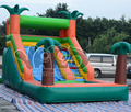 Patio trasero tobogán inflable con piscina para el verano