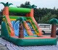 Quintal escorrega inflável com piscina para o verão