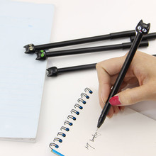 4 PCS Black Cat Gel Pen Kawaii Korean Stationery Creative Gift School Supplies 0.5mm