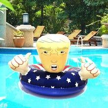 Flotador de piscina Trump, flotador inflable, anillo de natación Donald Trump, flotadores de piscina