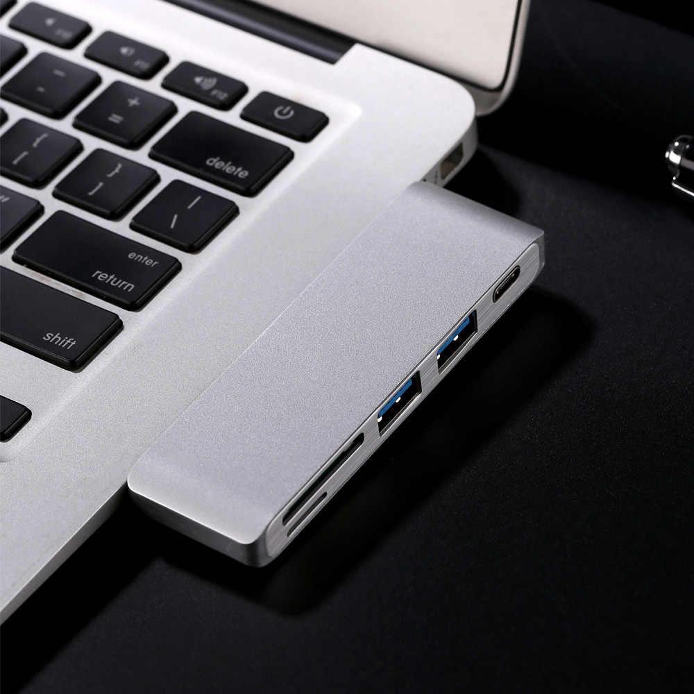 Hub Type-C USB 3.0 Combo/TF Card สำหรับ MacBook Pro 5 in 1 Multiport