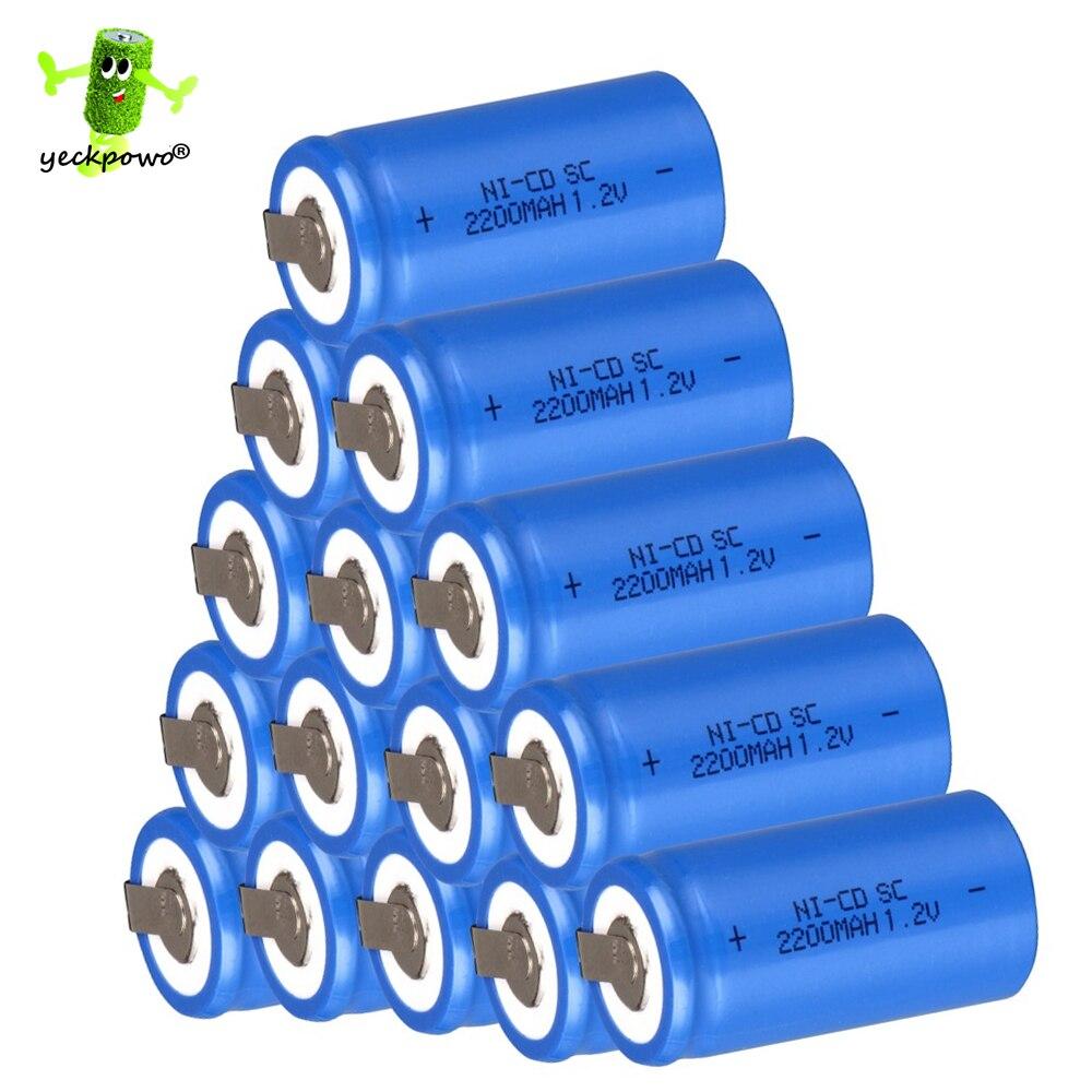 15 unids SC batería recargable SUBC acumulador batteria banco de la energía 1.2