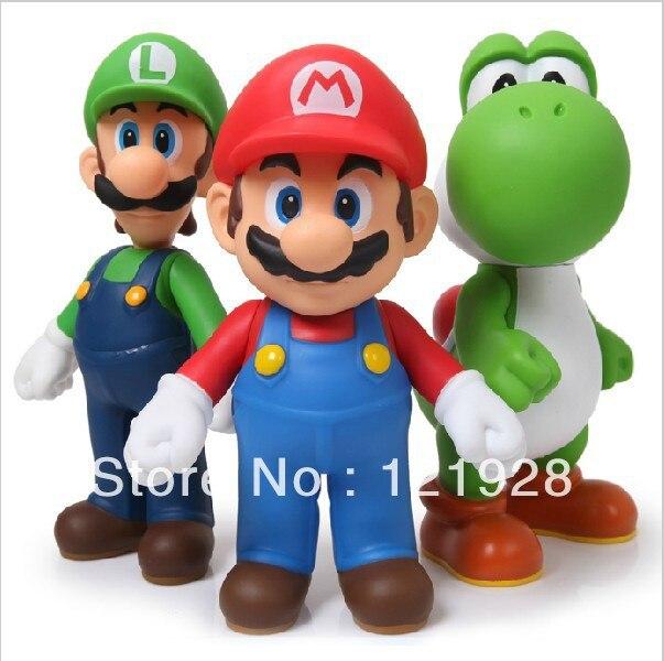 <font><b>New</b></font> arrival <font><b>High</b></font> <font><b>quality</b></font> 3pcs/<font><b>set</b></font> <font><b>Super</b></font> <font><b>Mario</b></font> Bros Luigi <font><b>Mario</b></font> Action Figures Toys Doll Retail Free shipping