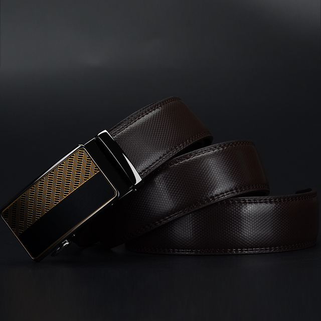 Nen Design Of Automatic Buckle Genuine Leather Belt For Men