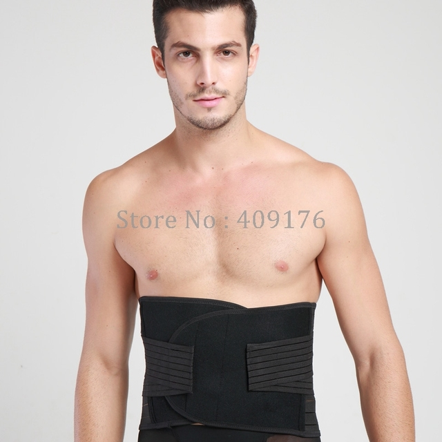 Belly Belt Sweat Girdle PRAYGER Back Supportor Man New Slimming Waist Wrap Control Tummy Trimmer Waist Cinchers Body Shapers 2