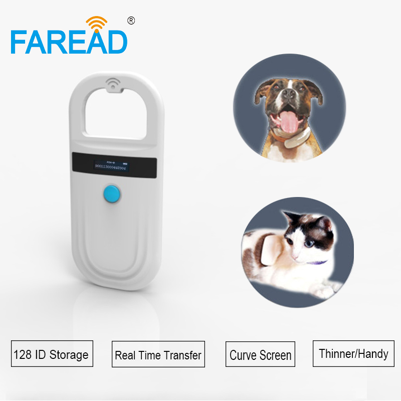 NEW up to 128 ID High sensitive 134 2khz FDX B implant transponder dog chip scanner