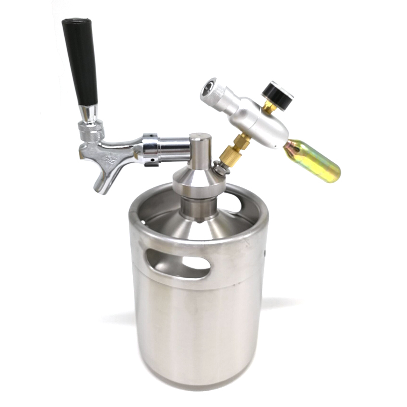 Homebrew Beer Stainless Steel Mini Keg Tap Dispenser With Adjustable Beer Tap for Mini Craft Beer Keg Homebrew Beer Accessories image