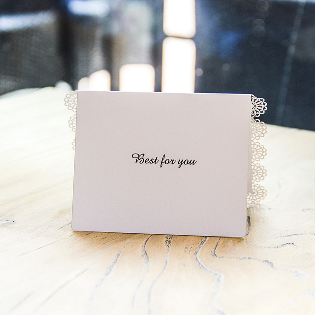 Blank Thank You Laser Cut Wedding Invitation RSVP Cards Small Love Message Gift Postcards Birthday