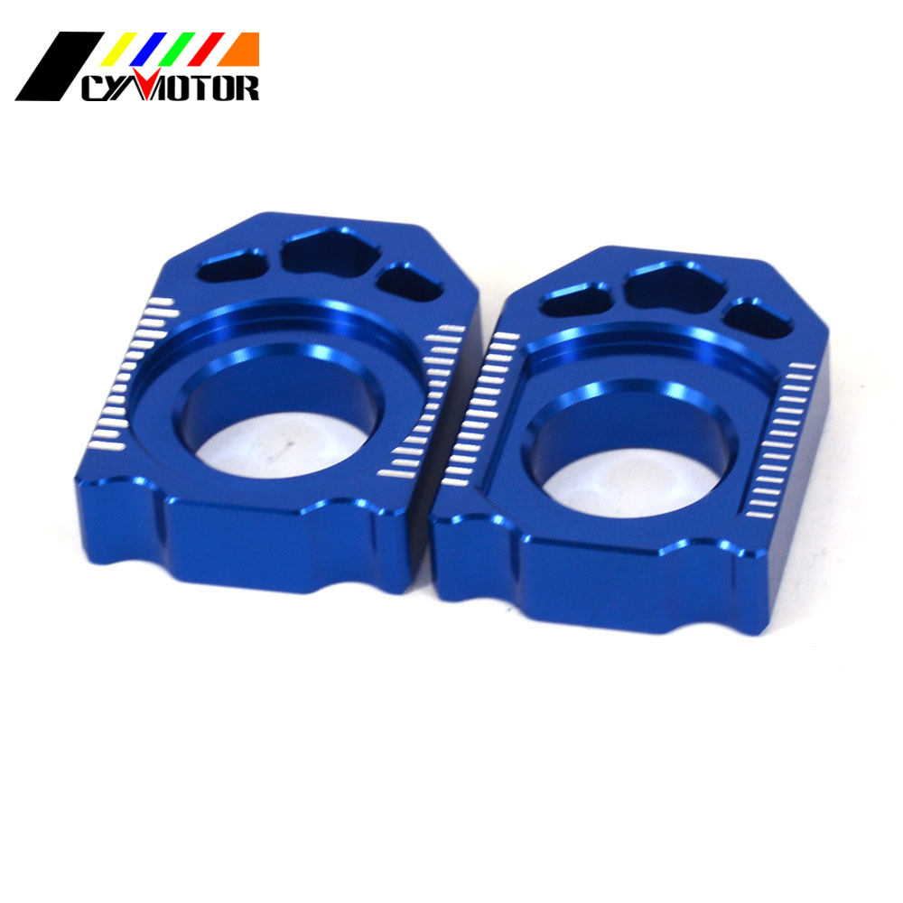 Motorcycle CNC Rear Adjuster Block Chain For YAMAHA YZ125 YZ250 YZ 250 450 F YZ250X YZ250FX WR250F WR450F WR 250F 450F WR250R X