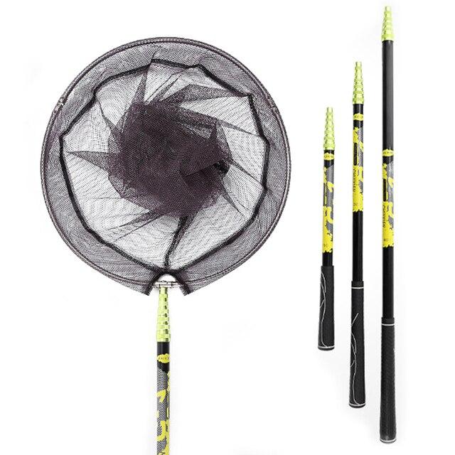 Carbon Fishing net  2.1 m 3 m Telescoping Foldable Landing Net Pole casting net work trap fishing nets
