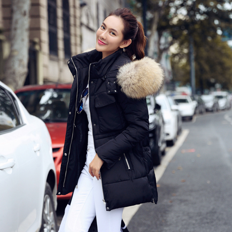 TOP Quality Large Real Fur 2017 Winter Jacket Women Raccoon Fur ...