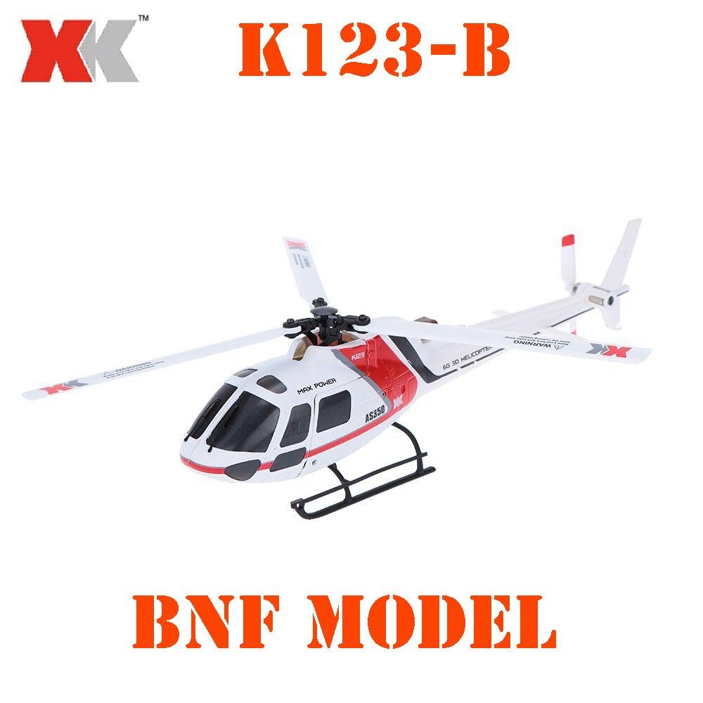 БНФ модель оригинальной XK as350 k123-b 6ch 3d 6 г Системы бесщеточный Двигатель БНФ вертолет