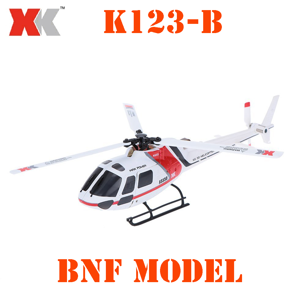 BNF Model Original XK AS350 K123-B 6CH 3D 6G System Brushless Motor BNF RC Helicopter original xk k124 bnf without tranmitter ec145 6ch brushless motor 3d 6g system rc helicopter compatible with futaba s fhss