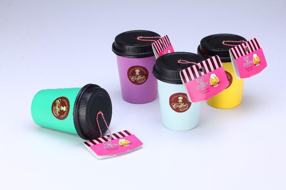 Lucio 20pcs/Lot original package rare Coffee Cup squishy Wholesale Cute Jumbo Squishy cell phone ...