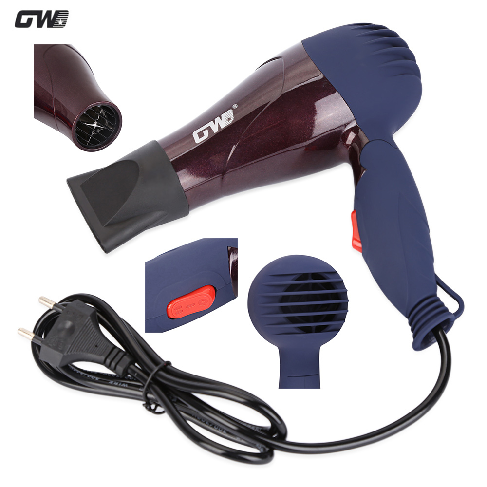 GW Foldable Hair Dryer Portable Travel Home Use Compact Ceramic Hair Blower Styling Tools High Quality Electric Hairdryer high quality compatible projector bulb poa lmp59 fit for plc xt16 plc xt3000 plc xt3200