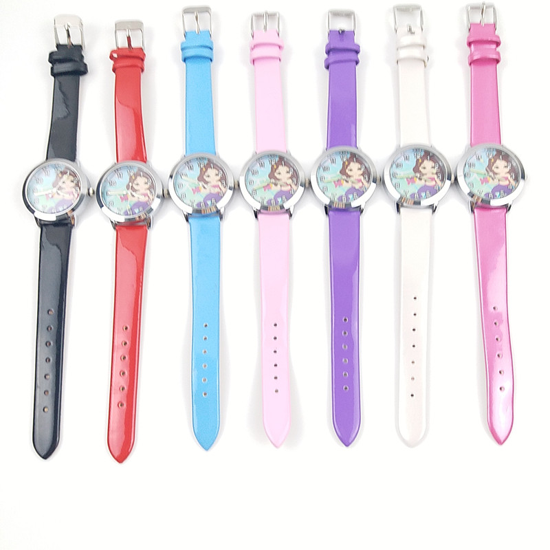 10 Unit /lot Mix Wholesales Relojes Mujer 2018 Fashion Mermaid Watches For Girls Small Leather Clock WristWatch Feminino