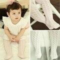 HziriP 2017 Novas Calças Do Bebê Rosa Branca Meias de Algodão Do Bebê Verão Escavar Crianças Meninas Calça Crianças Calças Justas Do Bebê 0-dois Anos