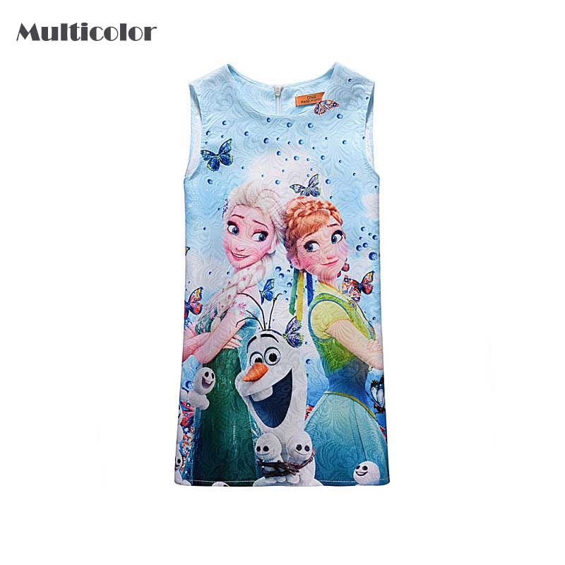 Customs Anna Elsa Baby Girl Dress NightDress Summer Cotton Child Baby Dress Girls Wear k ...
