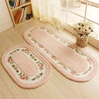 50X80+45X125CM/Set Pastoral Oval Kitchen Mat Home Entrance/Hallway Doormat Anti Slip Bathroom Carpet Bedroom Rugs And Carpets